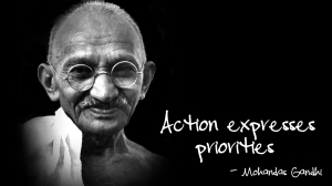 ghandi-action-expresses-priorities