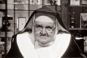 frowning nun