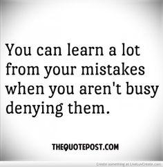 learn mistakes denial